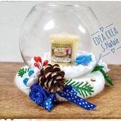 Centrotavola natalizio blu profumato