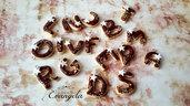 Ciondolo lettere alfabeto fimo minuteria materiale per creare bigiotteria accessori bomboniere gioielli