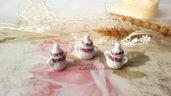 Miniatura zuccheriera porcellana ciondolo minuteria materiale per creare bigiotteria  bomboniere creare fai da te
