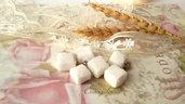 Ciondolo zolletta di zucchero minuteria materiale per creare bigiotteria accessori bomboniere gioielli