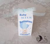 portaconfetti milk box Orsetto in mongolfiera per bimbo personalizzabili