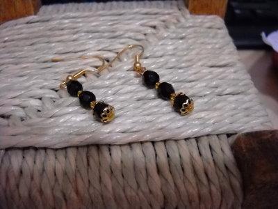 orecchini di cristallo di Boemia neri