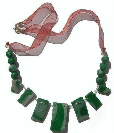 Collana verde e silver