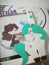 Cornice porta foto in legno. Unicorno Bomboniera Personalizzabile Regalo mamma Natale Compleanno