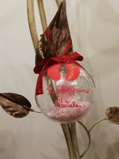 Pallina 1° Natale, neonato, neonata