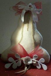 Albero di Natale fuori porta in pile color panna
