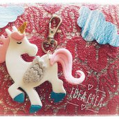 Portachiavi unicorno fantasy