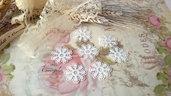 Centrino 2,5 cm. bianco pvc decorazione, per creare set miniature bigiotteria accessori abbellimenti