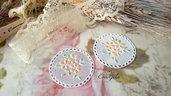 Centrino 4,2 cm. bianco pvc decorazione, per creare set miniature bigiotteria accessori abbellimenti