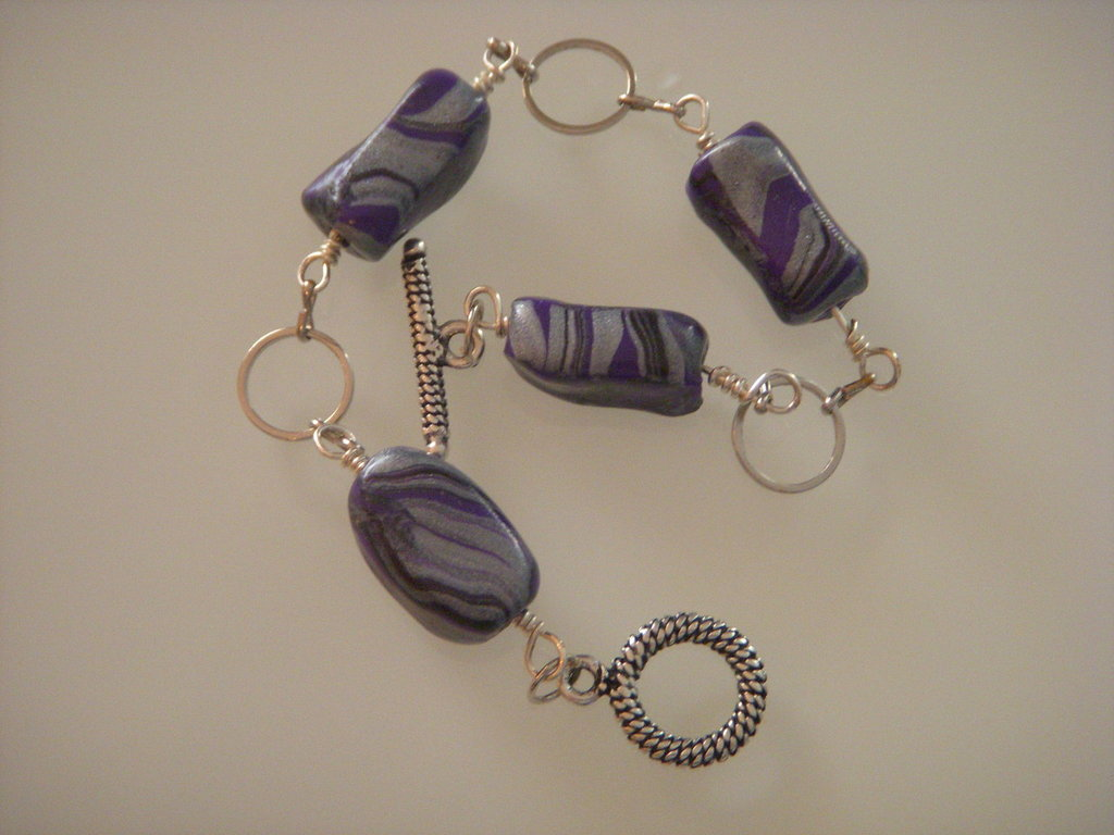 Bracciale violet stripes