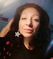 Orecchini stella glitter. Colori personalizzabili. Idea Natale capodanno. Bijoux gomma Eva. Earrings stars