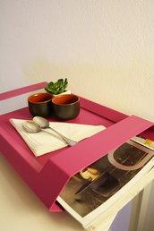 STEALTH - Vassoio con porta riviste  (Caoscreo)