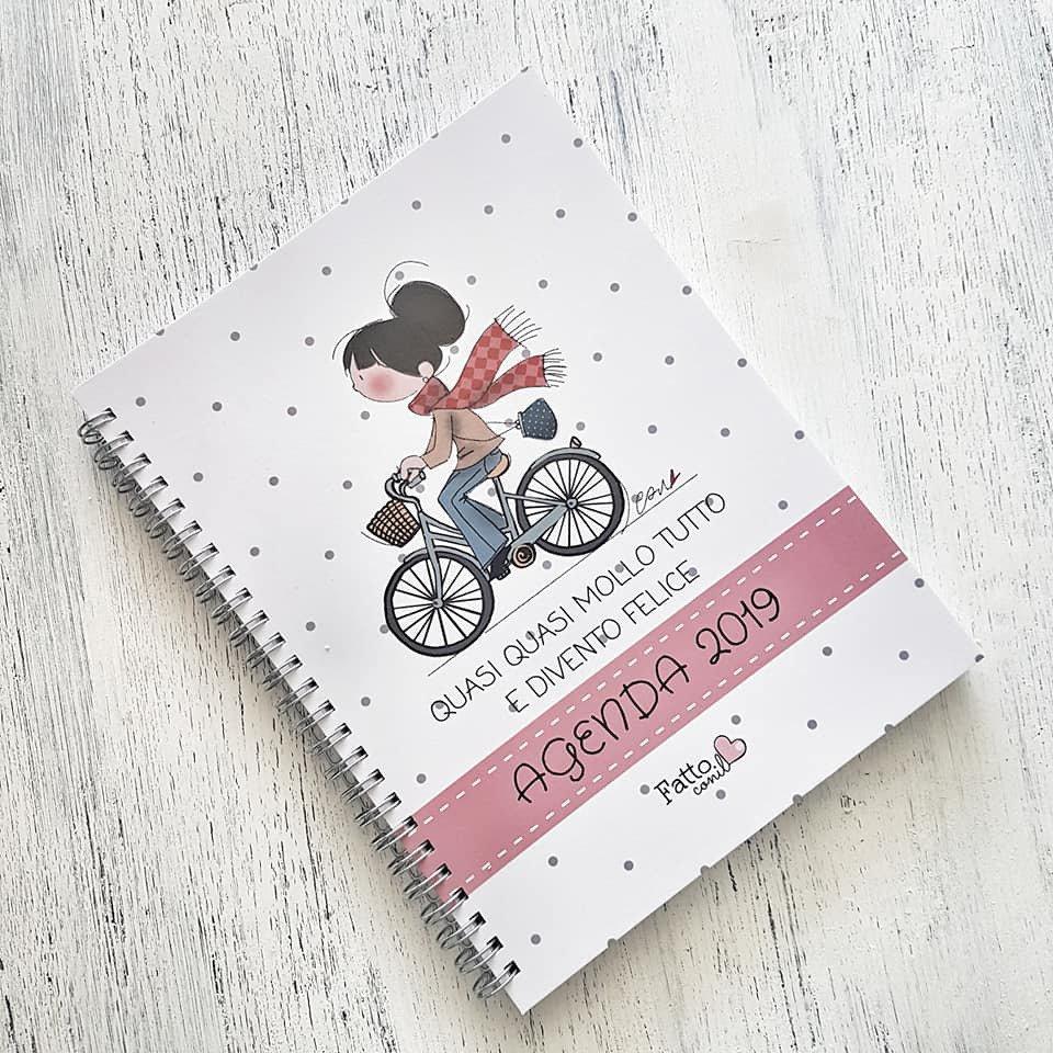 Agenda settimanale fattoconilcuore limited edition ad impronta scolastica