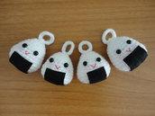 Sushi-Onigiri Keychain amigurumi handmade
