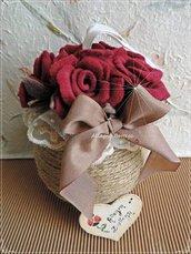 Palla di rose rosse