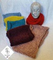 Sciarpe ad anello in lana mohair