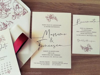 PARTECIPAZIONI MATRIMONIO NewElegance19 -  HANDMADE