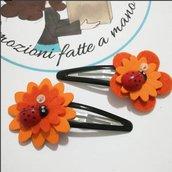 Mollette clips per capelli Mollettine bimba Accessori capelli glitter cuore stella fiore. Personalizzabile