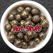 10 Perline di filigrana - Bronzo (8mm)