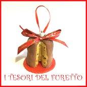 """Addobbo decorazione per albero di Natale da appendere  """" Panettone """" Fimo cernit Kawaii regalo personalizzabile  con  nome"""