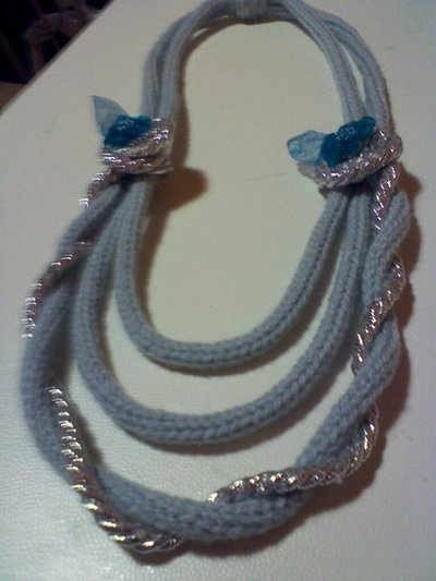 collana di lana e lurex