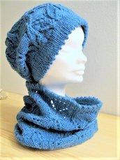 Set in lana berretto e collo - sciarpa circolare