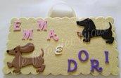 Targhe personalizzate per cani bassotti