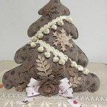 Albero di Natale in pannolenci, fuori porta natalizio