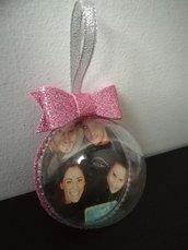 Mezza sfera pallina palla palline 8 cm foto nome natale regalo gomma crepla Eva