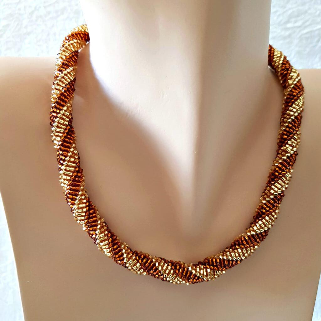 Collana a spirale Aida – Linea Myria-Art. 192-5 girocollo,collana donna,fatto a mano, ciondolo,choker, woman necklace, handmade