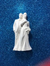 Sposi - sposini gesso ceramico per il fai da te