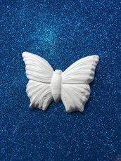 Farfalla grande gesso ceramico per il fai da te
