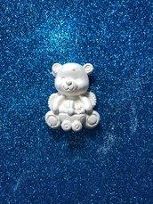 Orsetto - orso con carrozzina in gesso ceramico profumato per fai da te