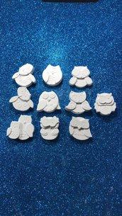 Gufo - gufetti gesso ceramico per fai da te