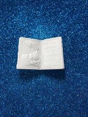 Libro battesimo gesso ceramico profumato per il fai da te