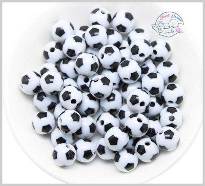 Perla pallone di calcio  RESINA 12 mm.