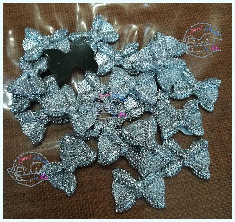 Fiocchetto glitter in resina ARGENTO