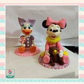 Cake topper Baby Minnie & Baby Paperina