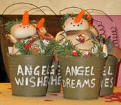 Omino di Neve in secchiello Angel Wishes - SUPER OFFERTA