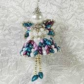 Decorazione per Albero angelo Luciano – Linea decorazioni per Albero idee regalo,fatto a mano, natale,gift ideas, handmade, christmas