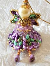 Decorazione per Albero angelo Lucente – Linea decorazioni per Albero idee regalo,fatto a mano, natale,gift ideas, handmade, christmas,
