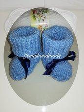 Scarpette neonato lana