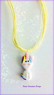 Collana unicorno in fimo, gioielli unicorno per amante degli unicorni, regalo bambina