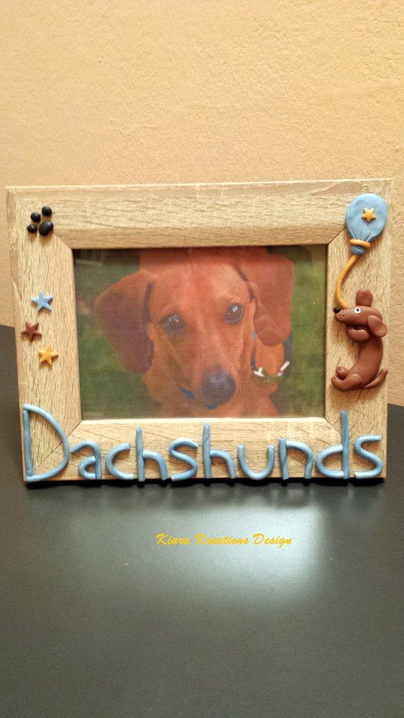 Cornice personalizzata con il nome del vostro cane, idea regalo ricordo cane