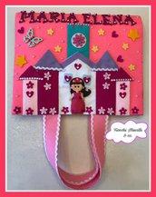 Porta blocco e colori con castello delle principesse