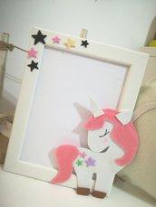 Cornice unicorno Idea regalo bambini Battesimo compleanno Personalizzabile con nome