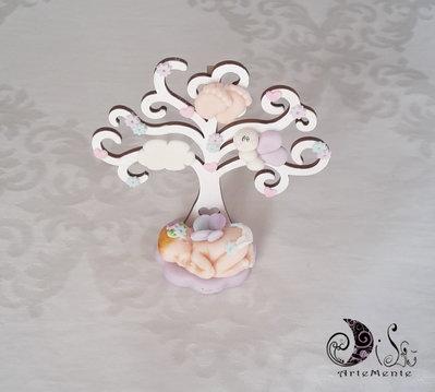 Albero Portafoto idea regalo nascita battesimo fatina bebè albero della vita