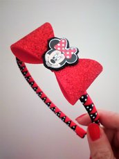 Cerchietto con fiocco Minnie