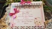 invito Battesimo Bimba Personalizzato