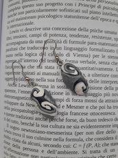 Orecchini black and white e silver